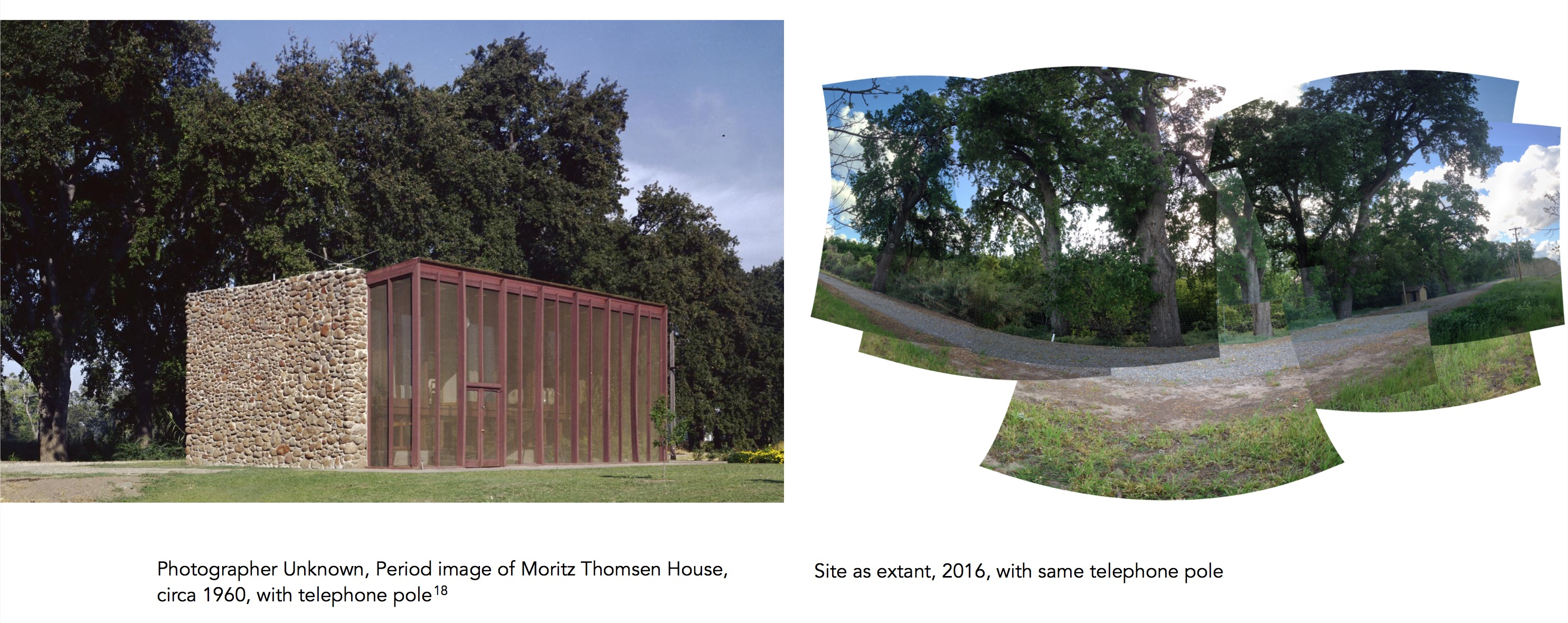 the moritz thomsen house before and after photographs